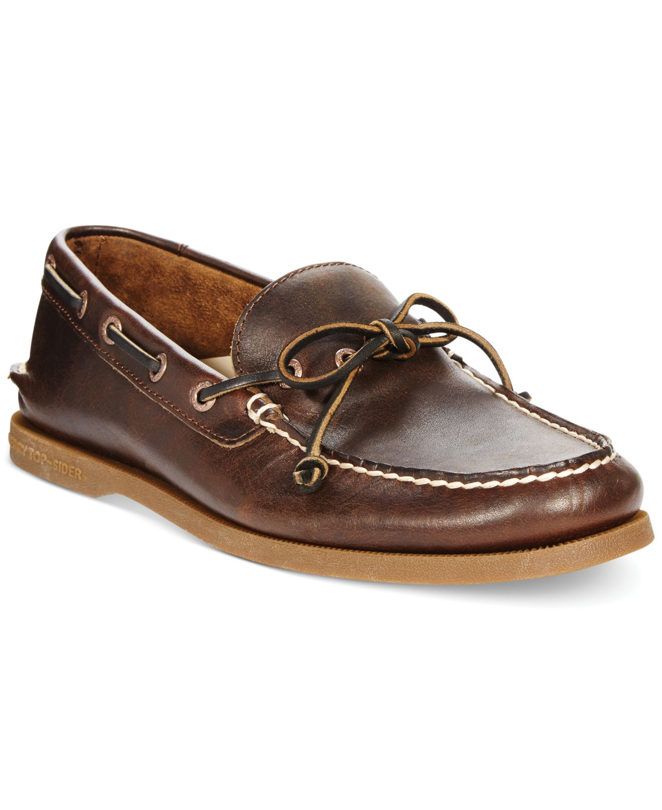 Sperry top-sider Men's A/o 1-eye Leather Boat Shoes in Brown for ...