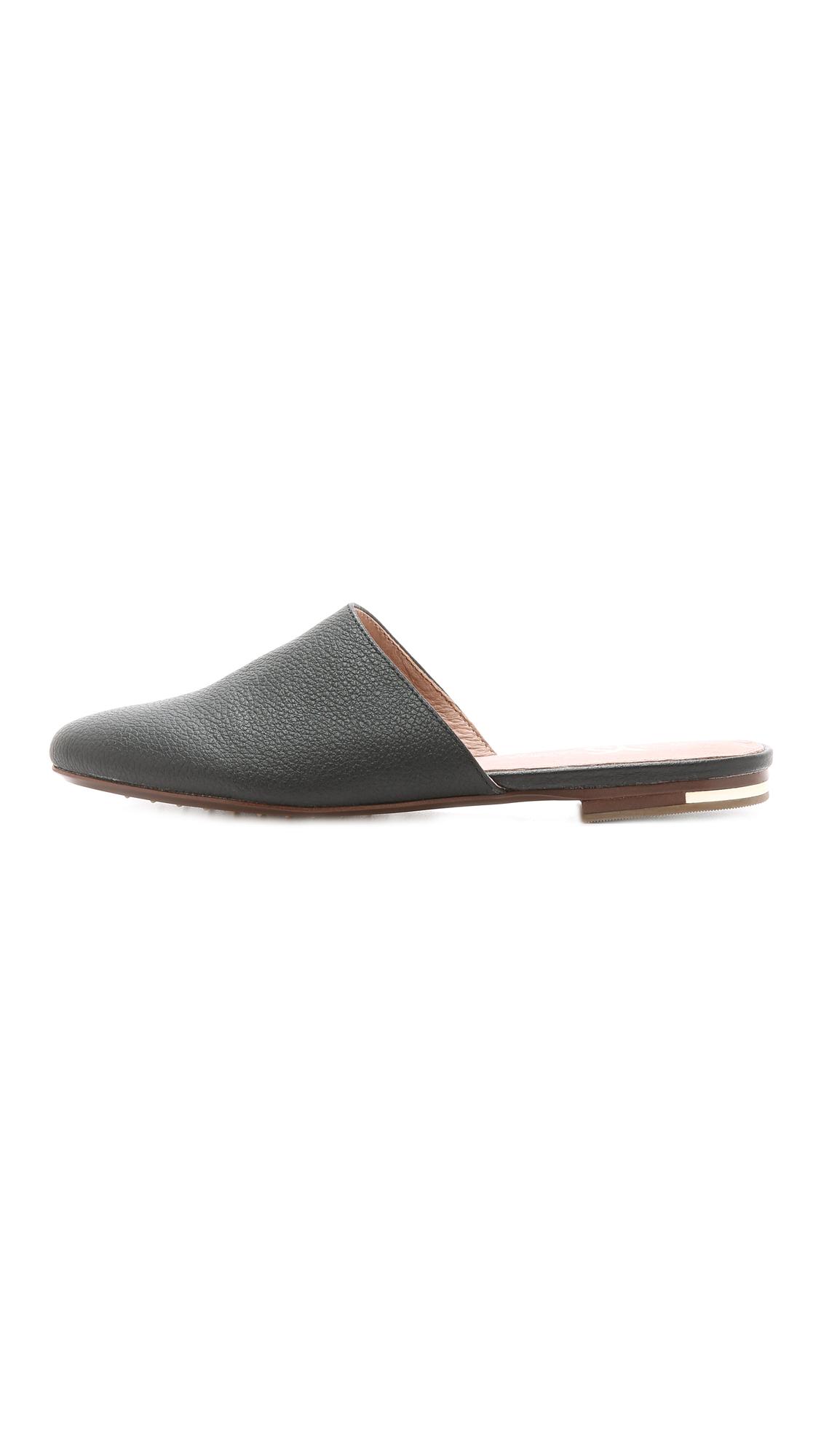 Yosi samra Parker Flat Mules - Black in Black | Lyst