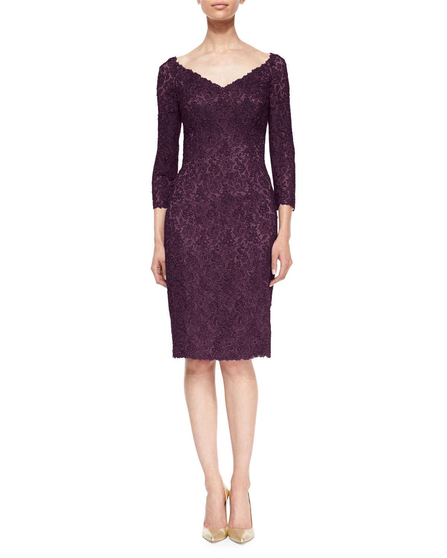 Three quarter sleeve lace cocktail dress – Dress online uk