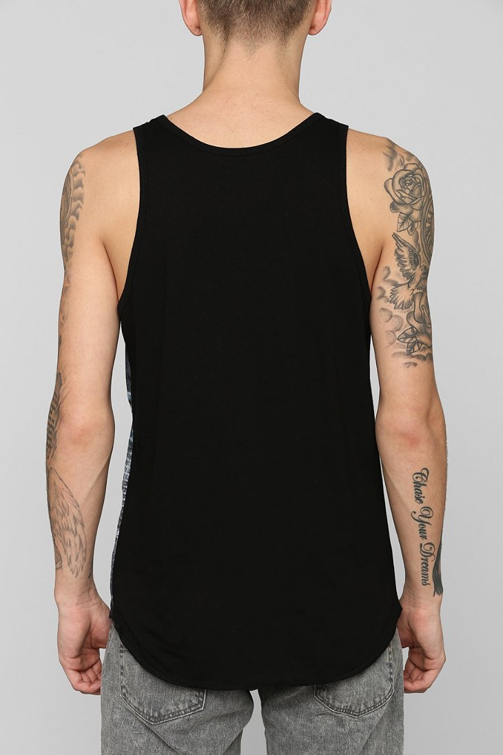 272e690af2890 Lyst - Urban Outfitters Chicago Area Code Mesh Tank Top in Black for Men