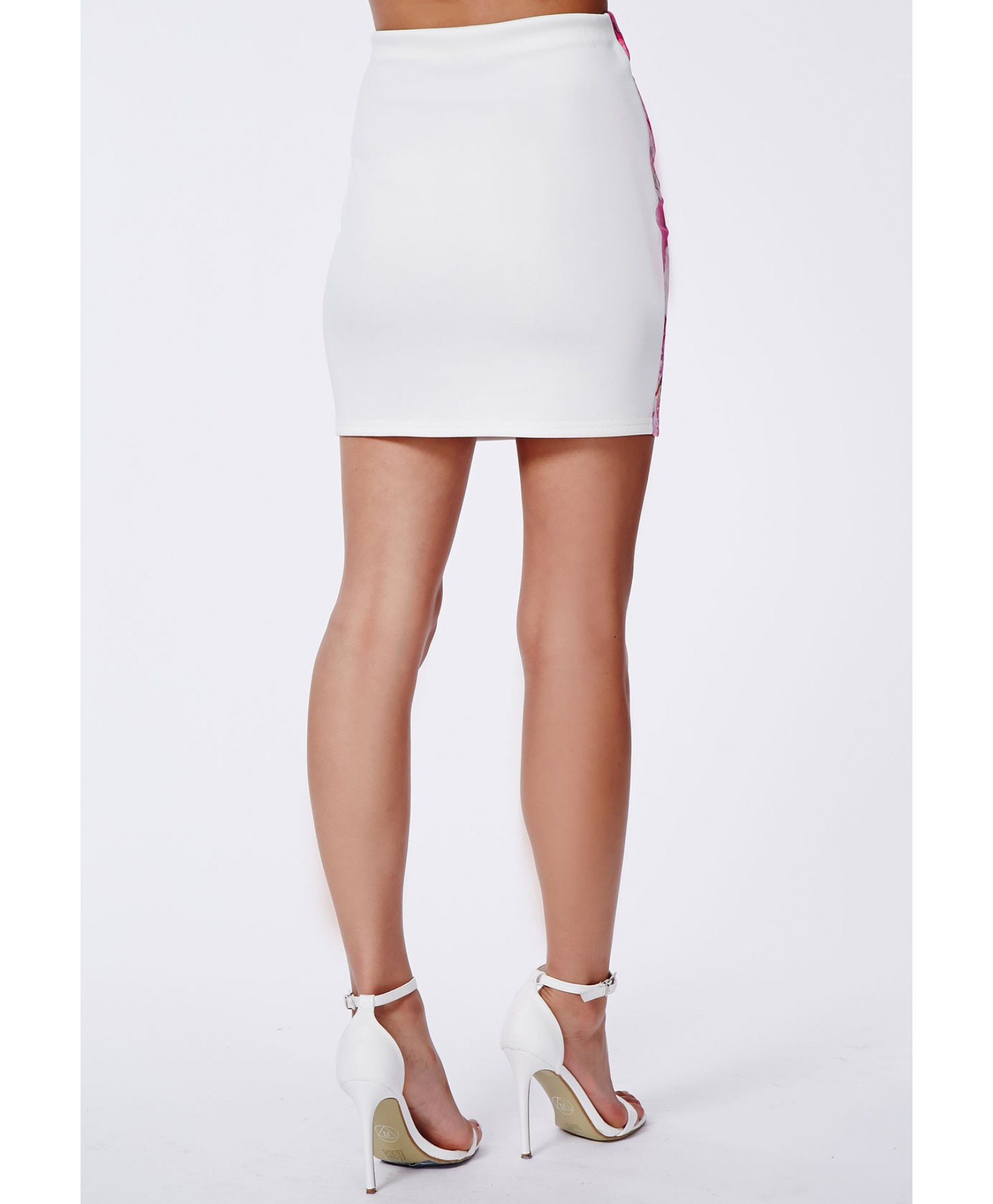 967739a567 Missguided Serenada Floral Side Panel Mini Skirt - Lyst