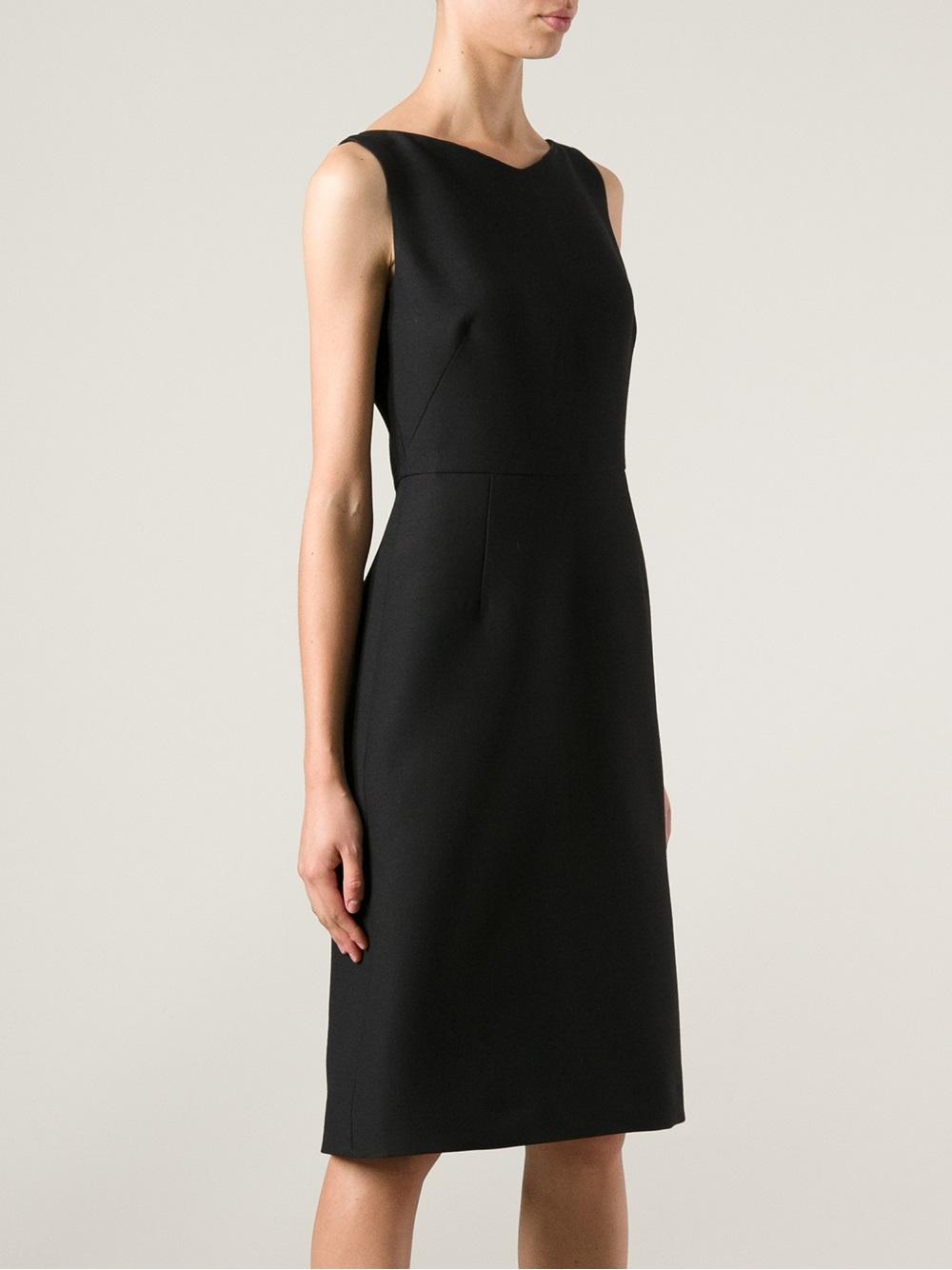 Lyst Valentino Mid Length Dress In Black