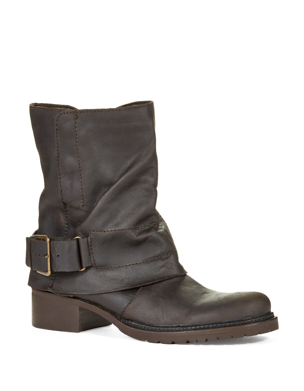 Lyst Adam Tucker Ledger Leather Boots In Brown