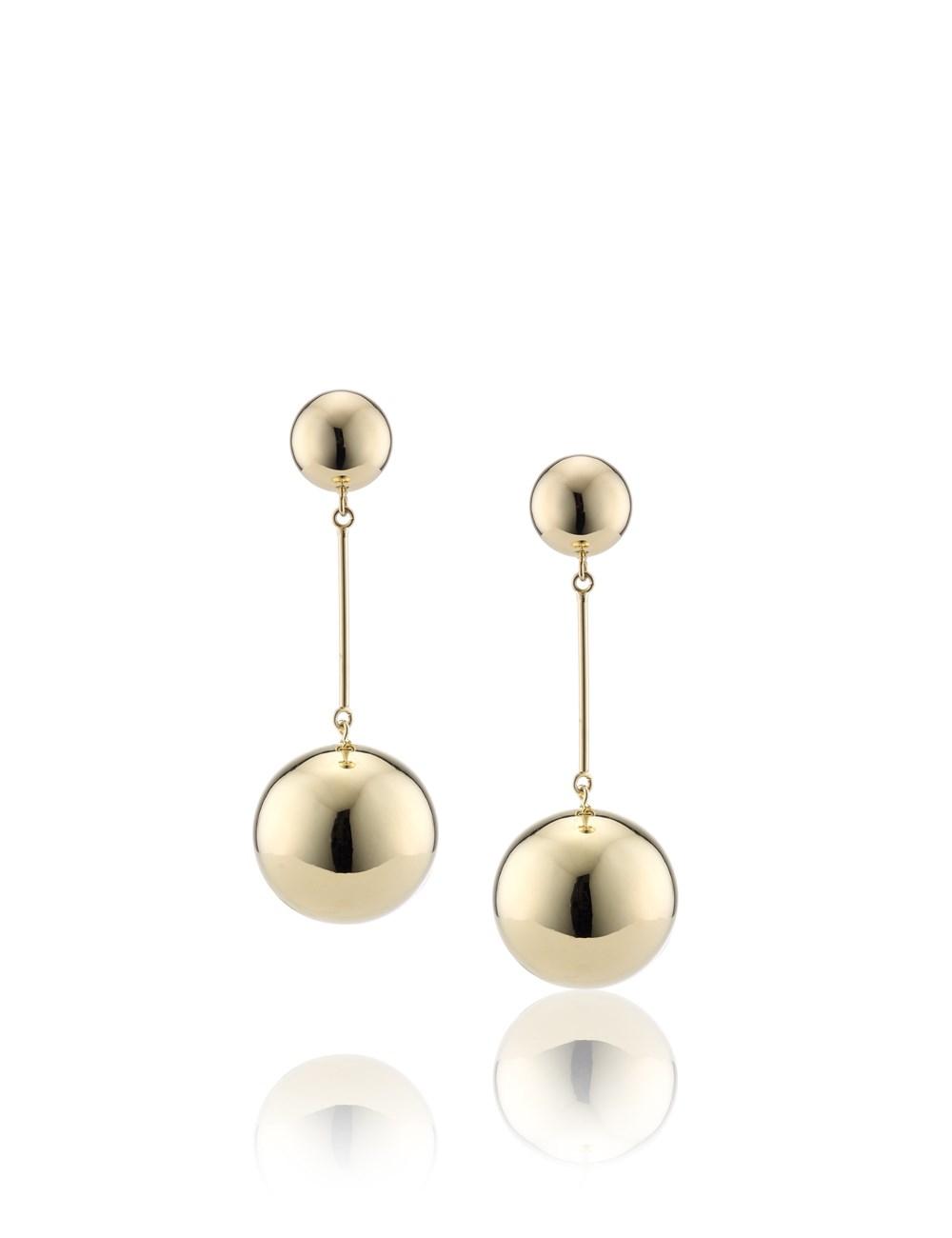 Jwanderson Gold Sphere Drop Earrings In Metallic Lyst