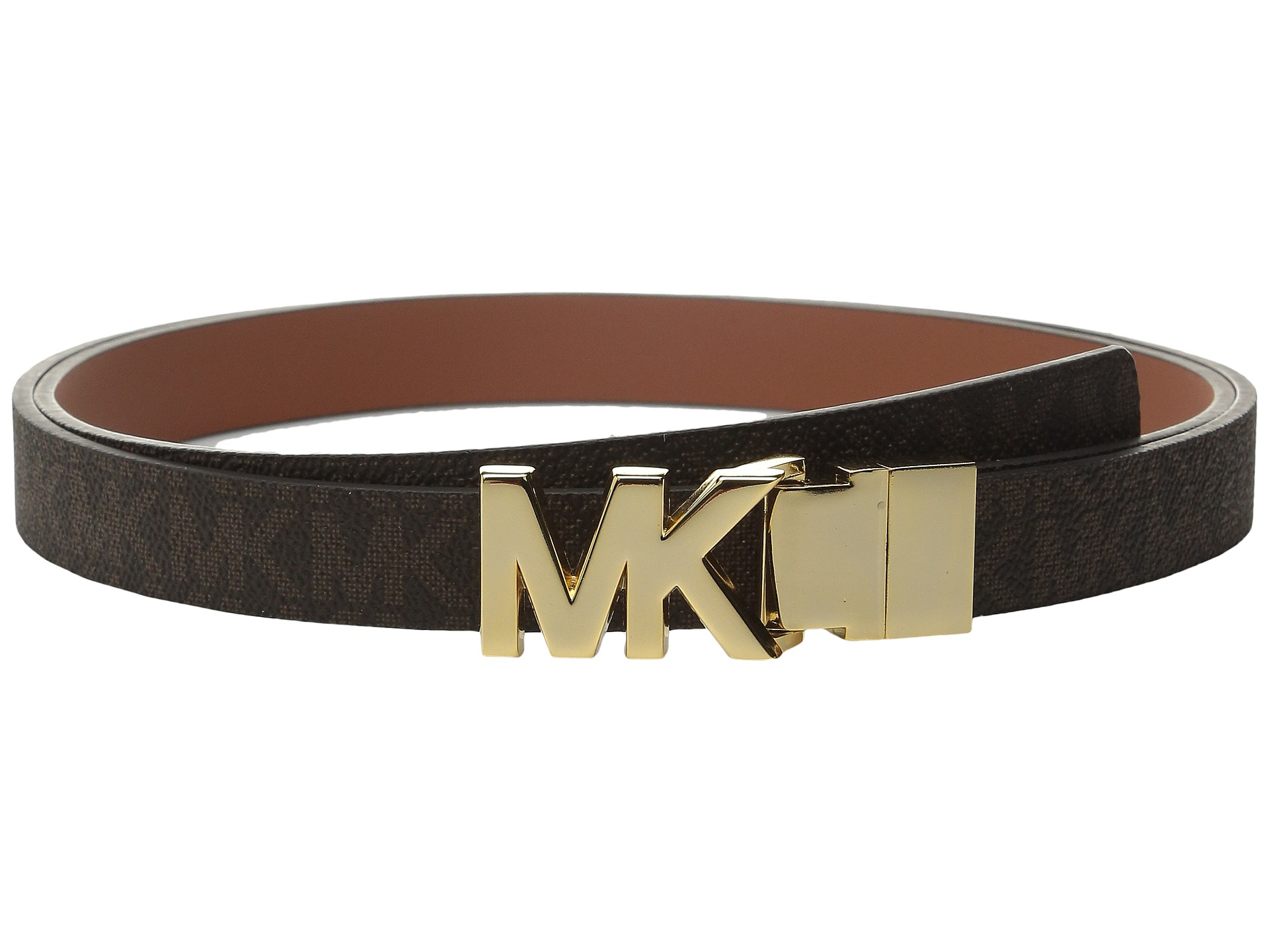 8b7368f4191c promo code for lyst michael michael kors 20mm reversible logo pvc to smooth  belt 3cd5b 77b3b