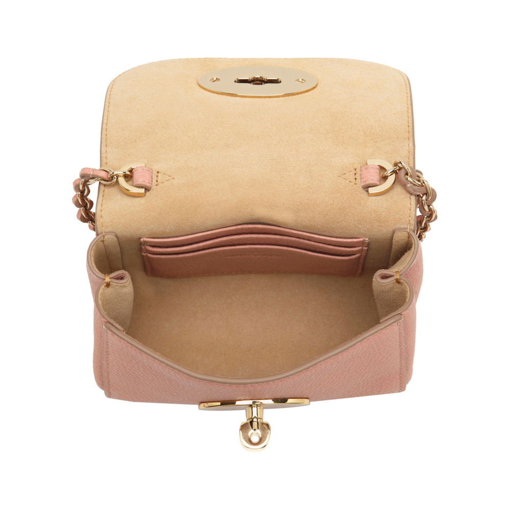 ... shopping lyst mulberry lily mini textured leather shoulder bag in  natural c995e 8e500 f0474a1a29129