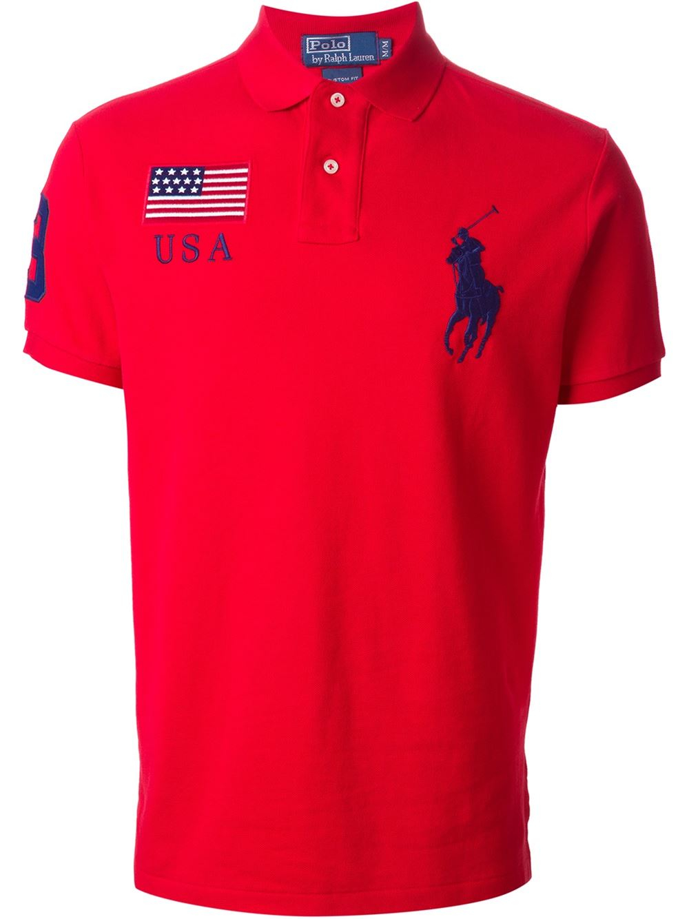 Lyst Polo Ralph Lauren Big Logo Embroidered Polo Shirt In Red For Men