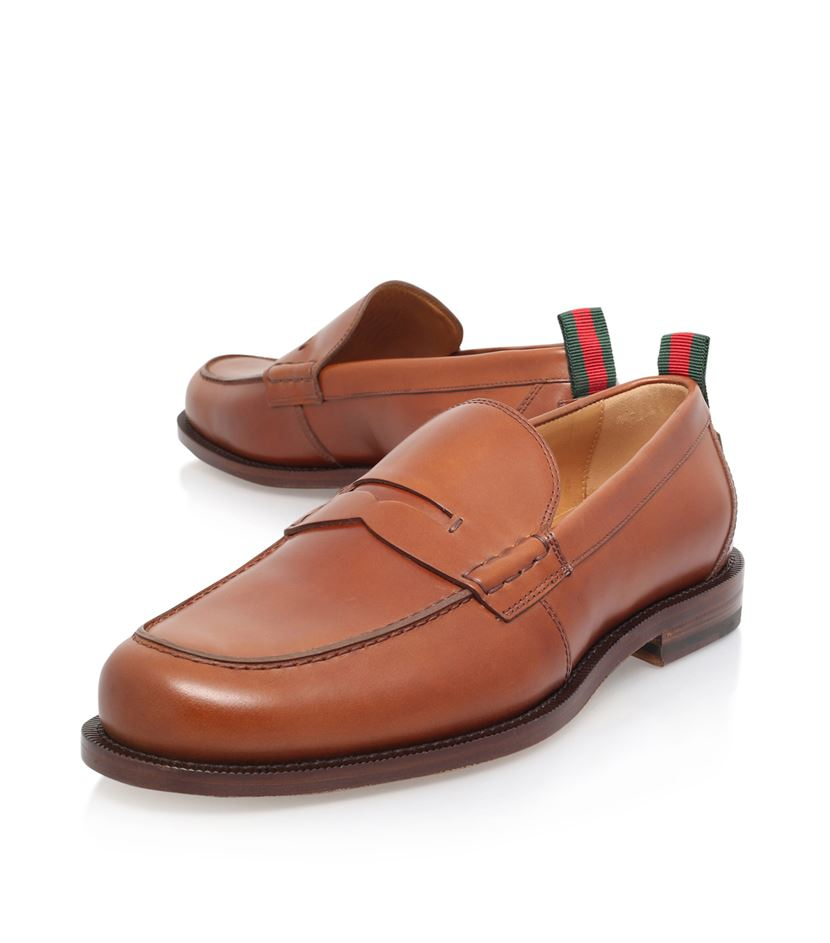 23878929ca5 Gucci Tobias Leather Penny Loafer in Brown for Men - Lyst