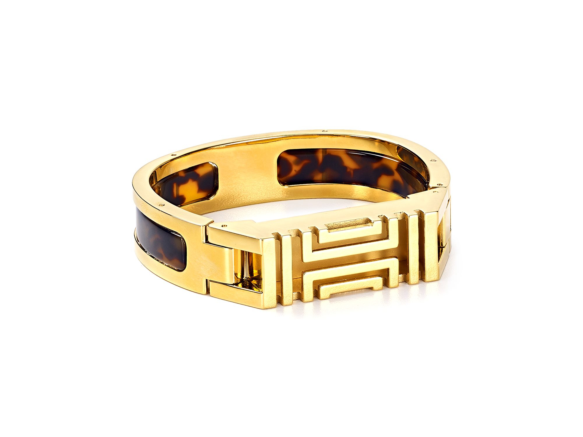 3df644fb192 Lyst - Tory Burch For Fitbit Hinge Bangle in Brown