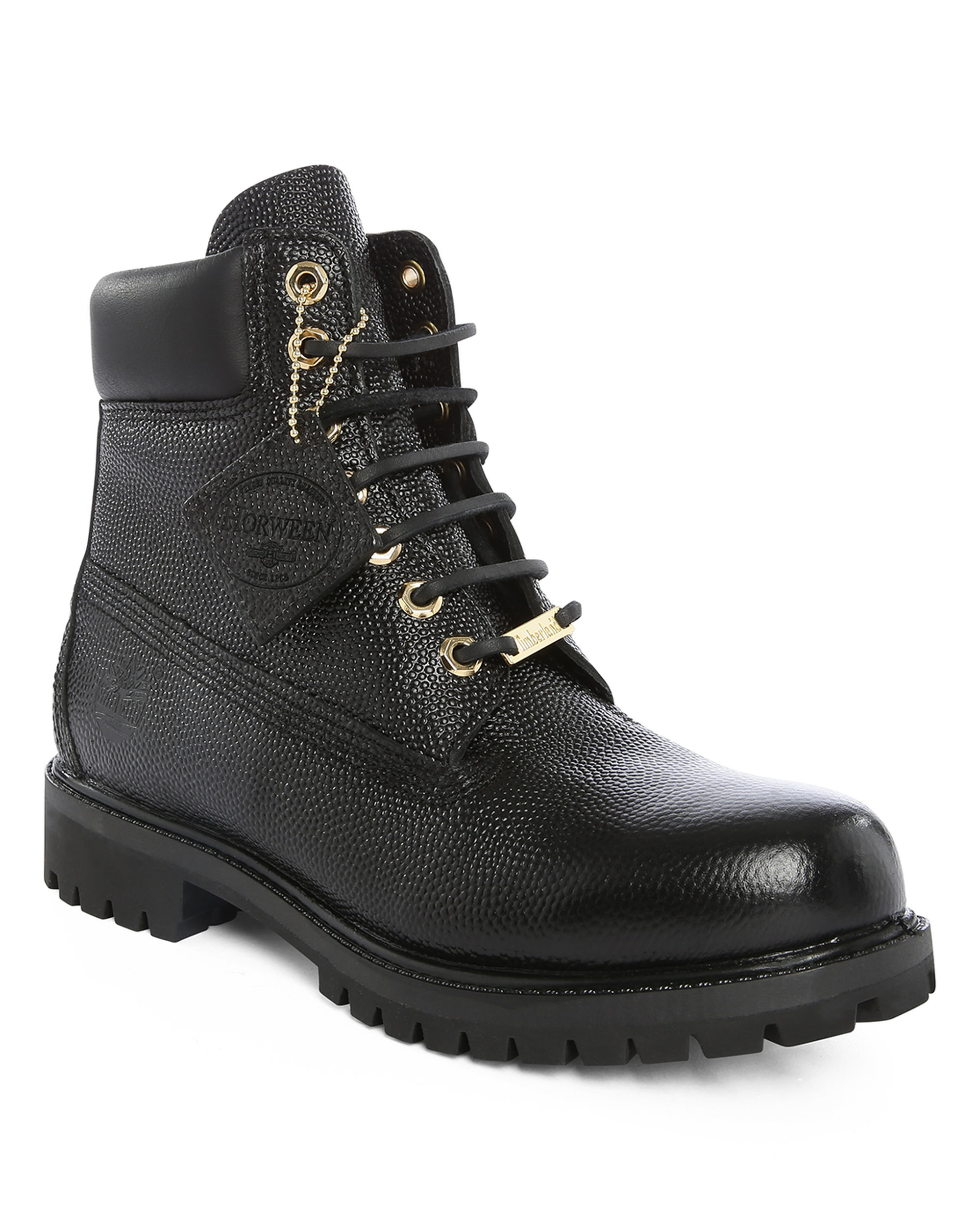 timberland black 6 inch premium horween leather boots in