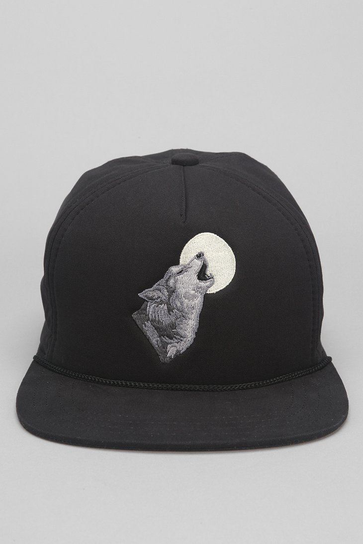 b47524d72bd Lyst - Coal The Lore Wolf Snapback Hat in Black for Men