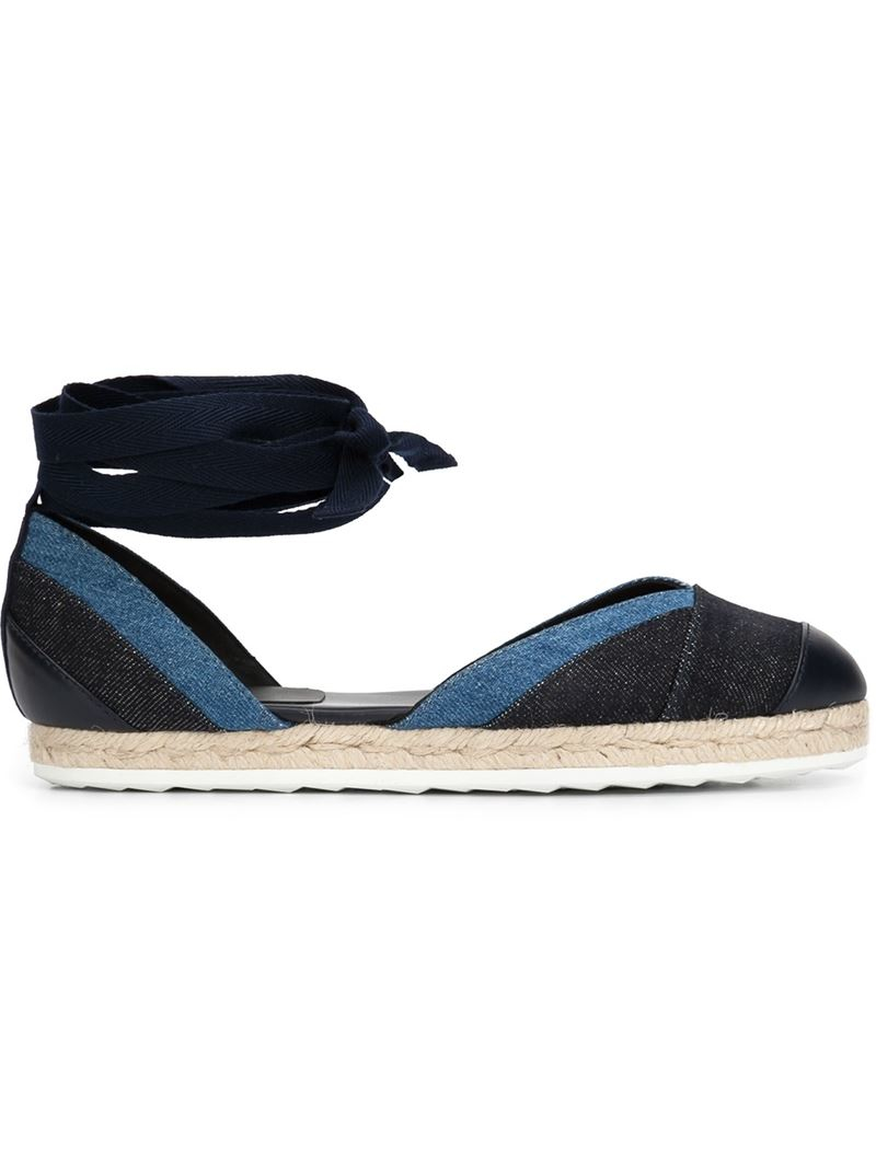 pierre hardy bauhaus beach espadrilles in black blue save 51 lyst. Black Bedroom Furniture Sets. Home Design Ideas