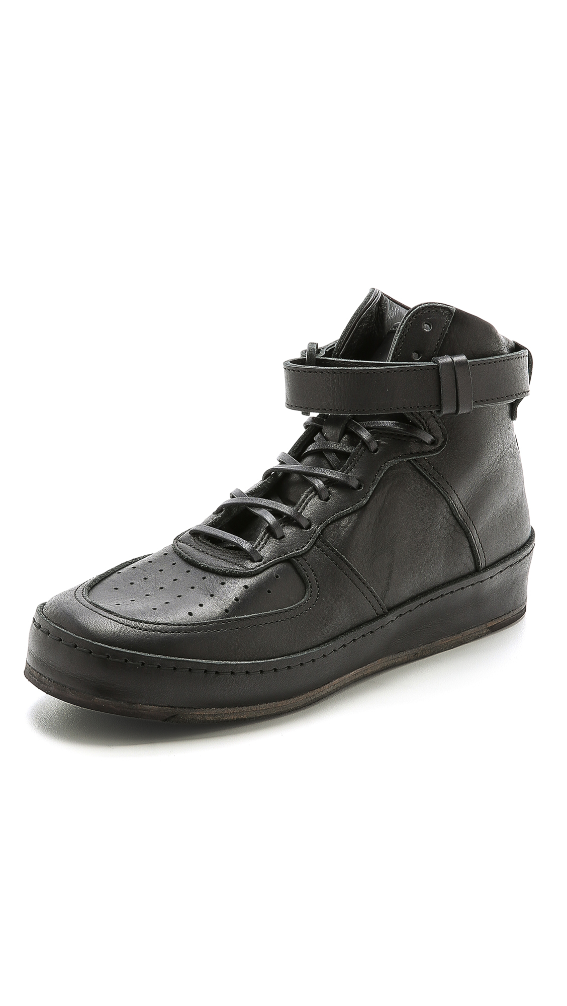 Black Manual Industrial Products 01 High-Top Sneakers HENDER SCHEME ndGaakFAx