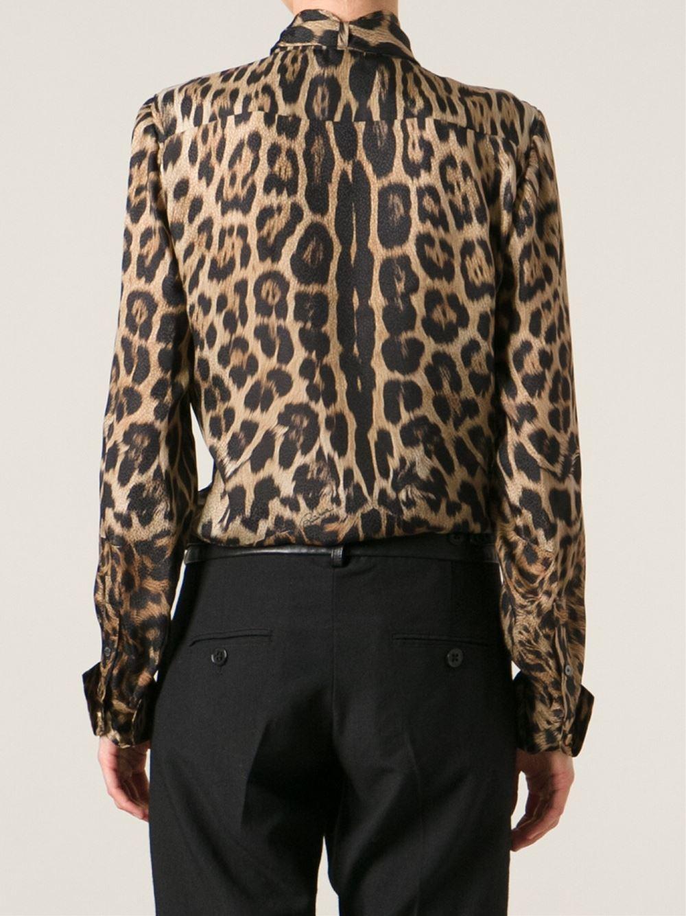 Lyst Roberto Cavalli Leopard Print Blouse