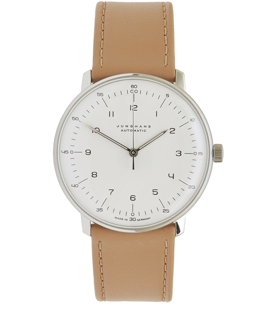 lyst junghans beige max bill automatic watch in natural. Black Bedroom Furniture Sets. Home Design Ideas