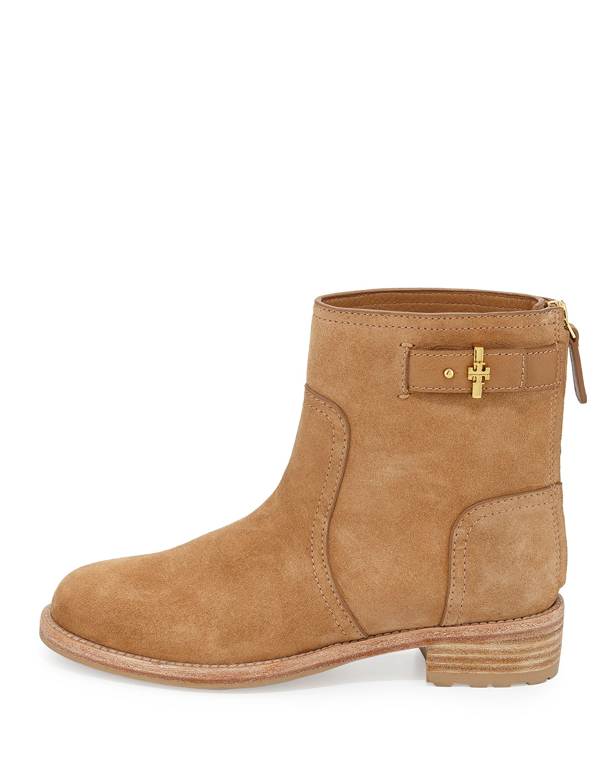 Tory burch Selena Suede Ankle Boot in Brown | Lyst