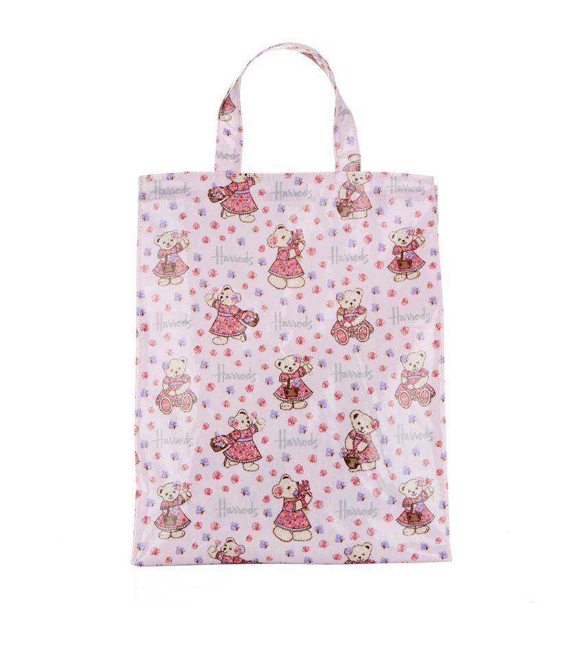 e0b57cda0cb Harrods Medium Sweet Pea Bear Shopper Bag in Pink - Lyst