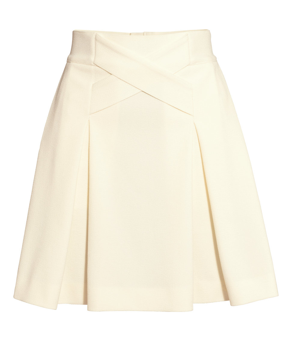 h m pleated skirt in lyst