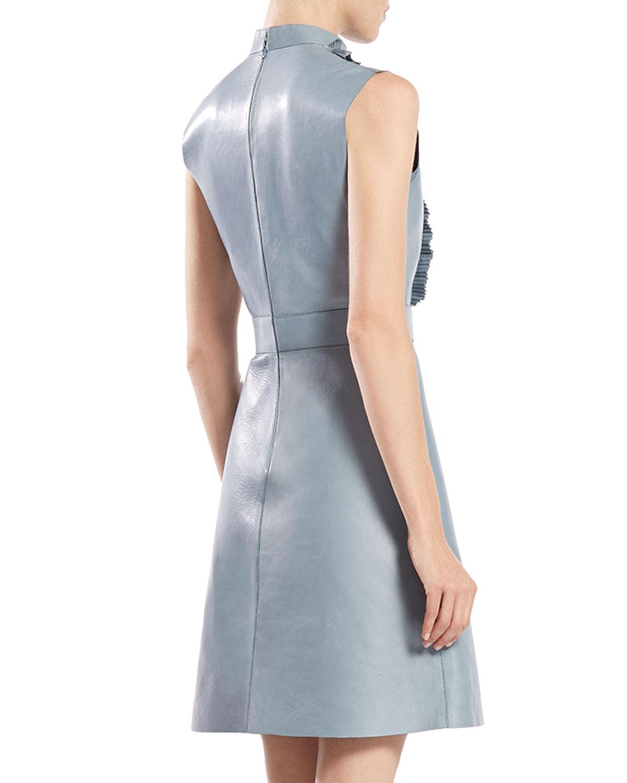 Leather Ruffle Dress – fashion dresses