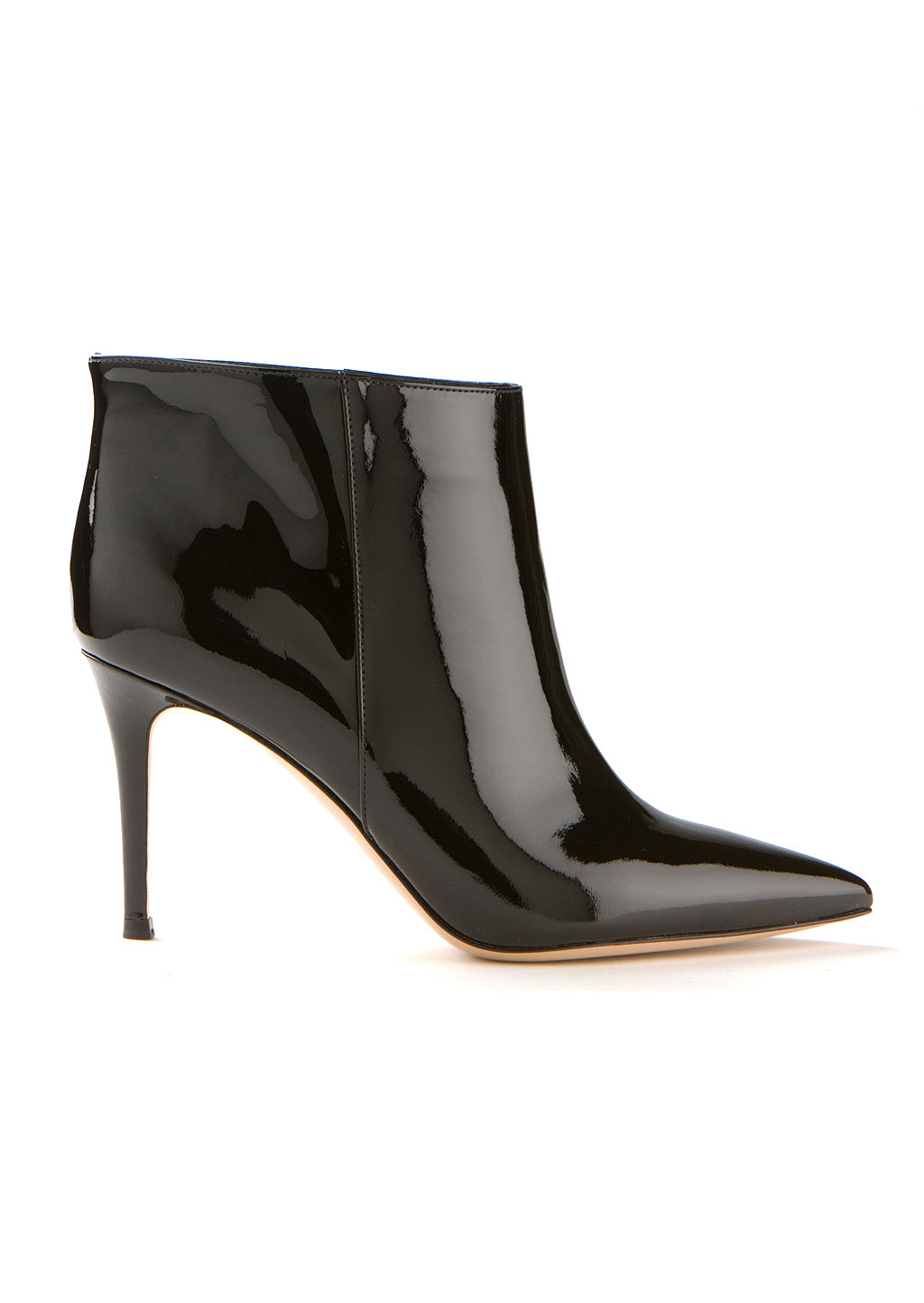 gianvito black patent leather ankle boots in black
