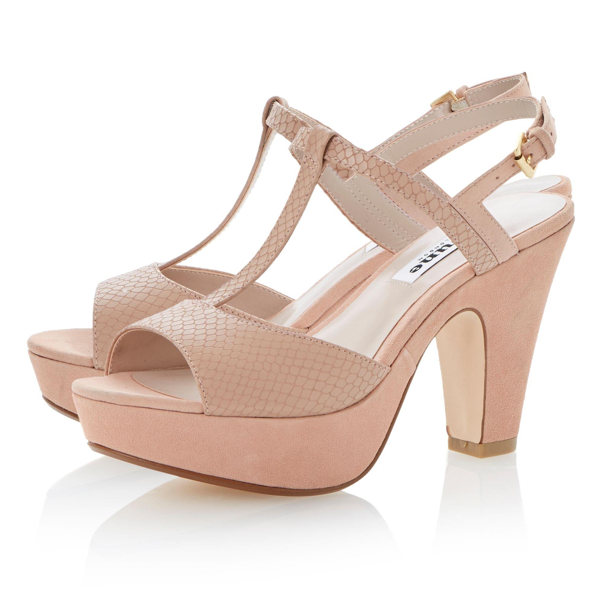 Pink Suede Peep Toe Heels