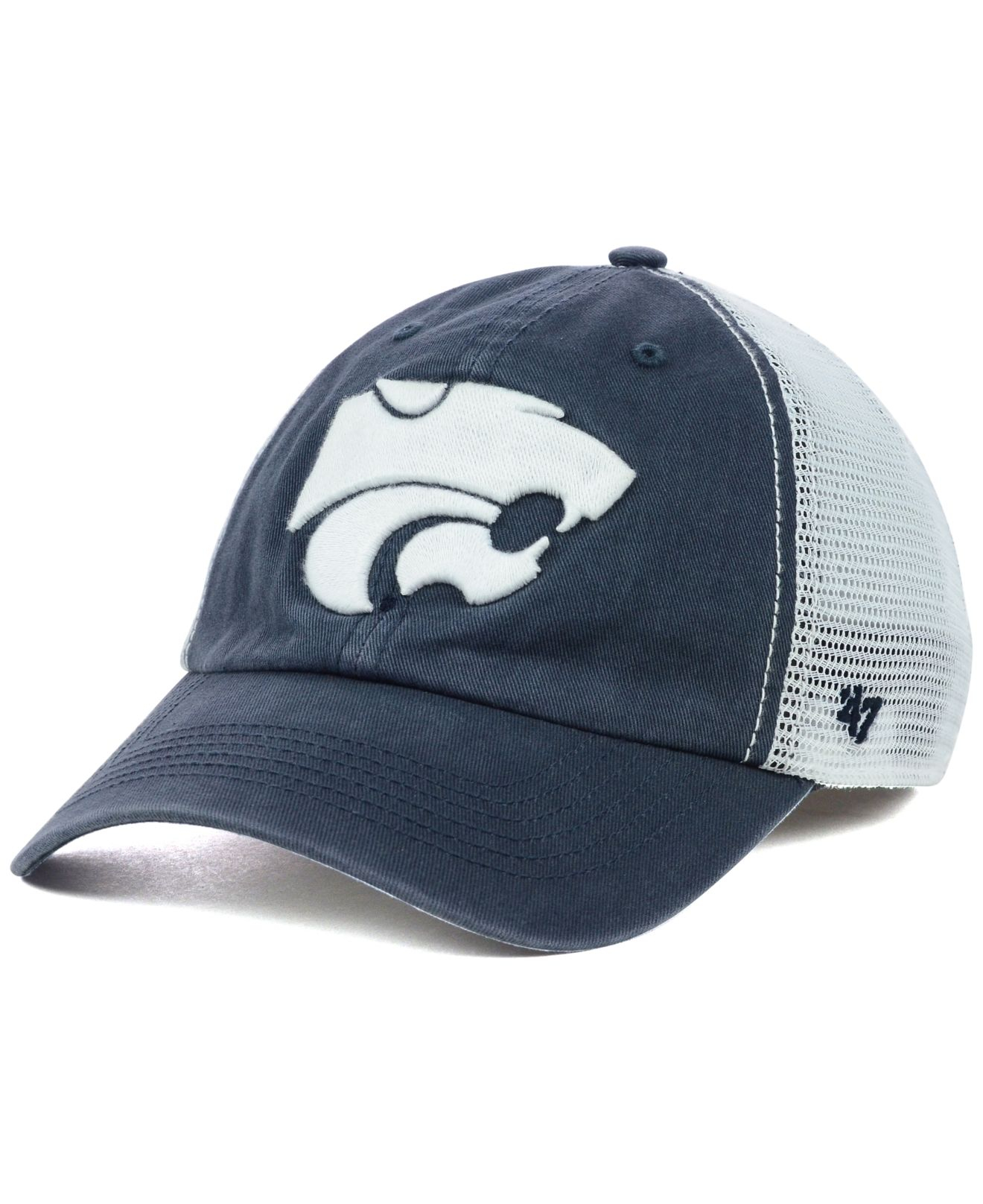 new style e0539 6357a ... australia lyst 47 brand kansas state wildcats griffin closer cap in  blue for men d13b3 18c17