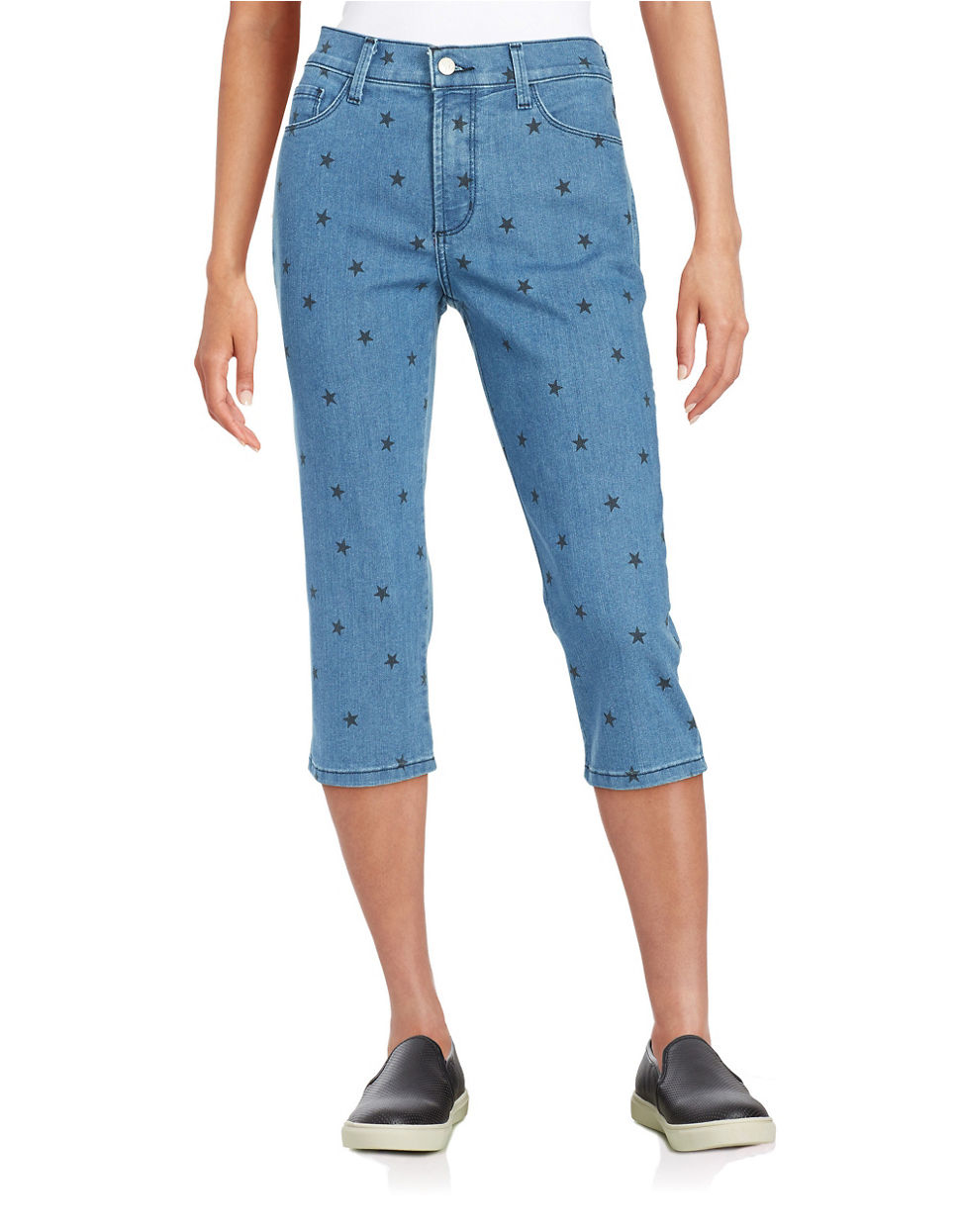 Nydj Petite Star Jean Capri Pants in Blue | Lyst