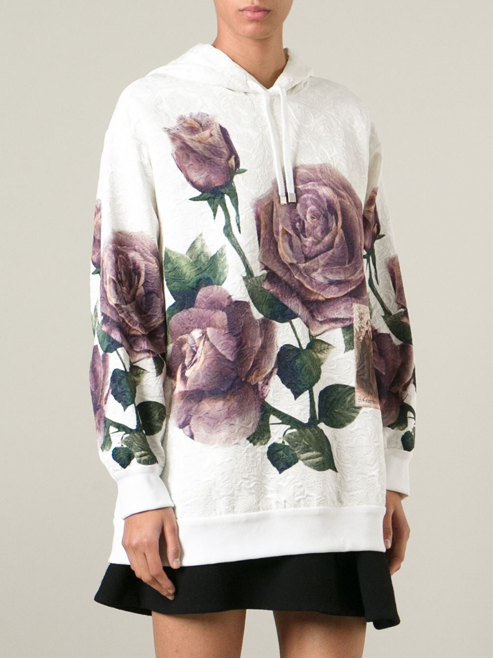 Discount Codes Clearance Store Limited Edition Dolce & Gabbana rose printed hoodie Outlet Pre Order H5AlH