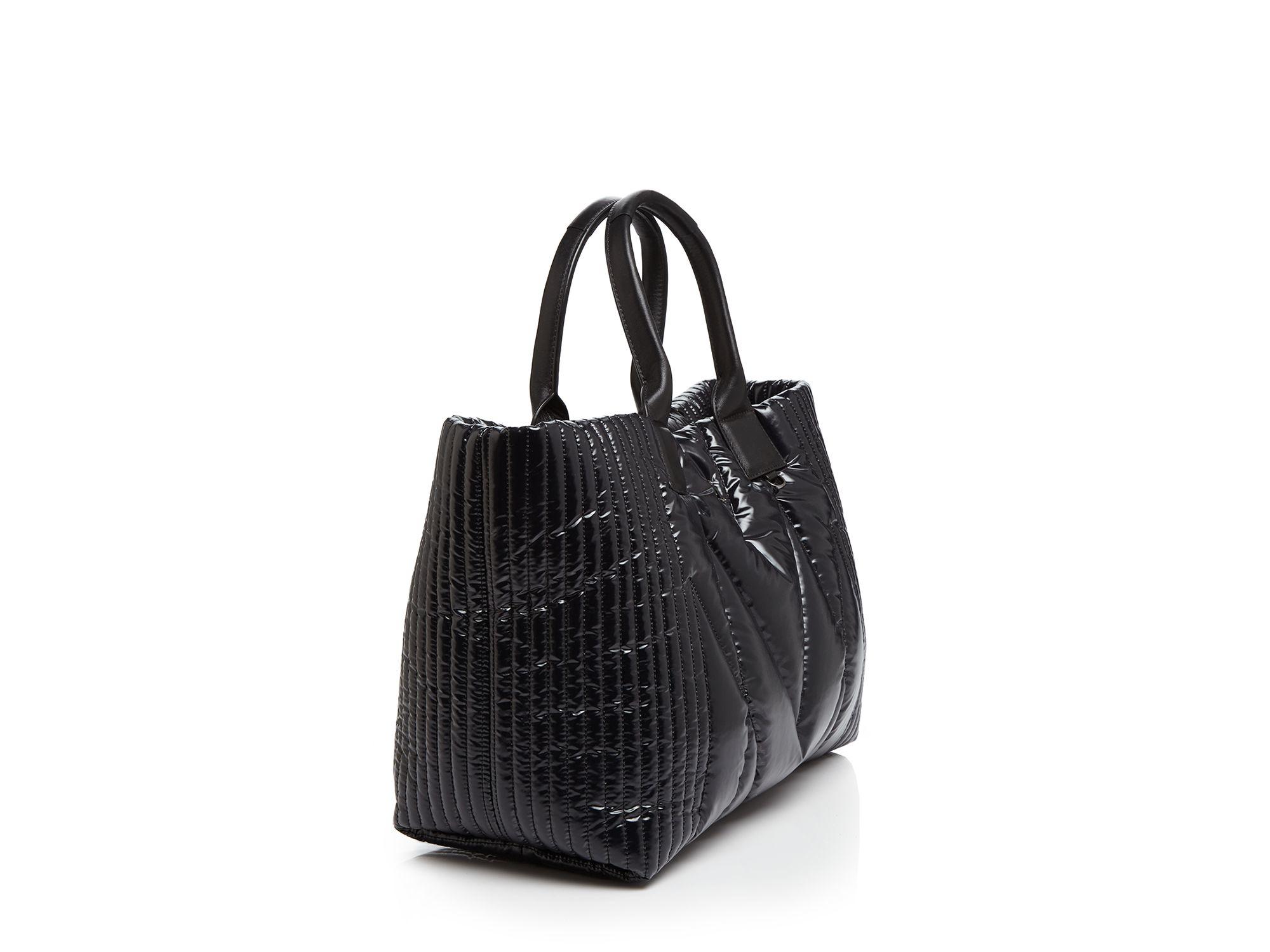 mcm tote kissen medium shopper in black lyst. Black Bedroom Furniture Sets. Home Design Ideas