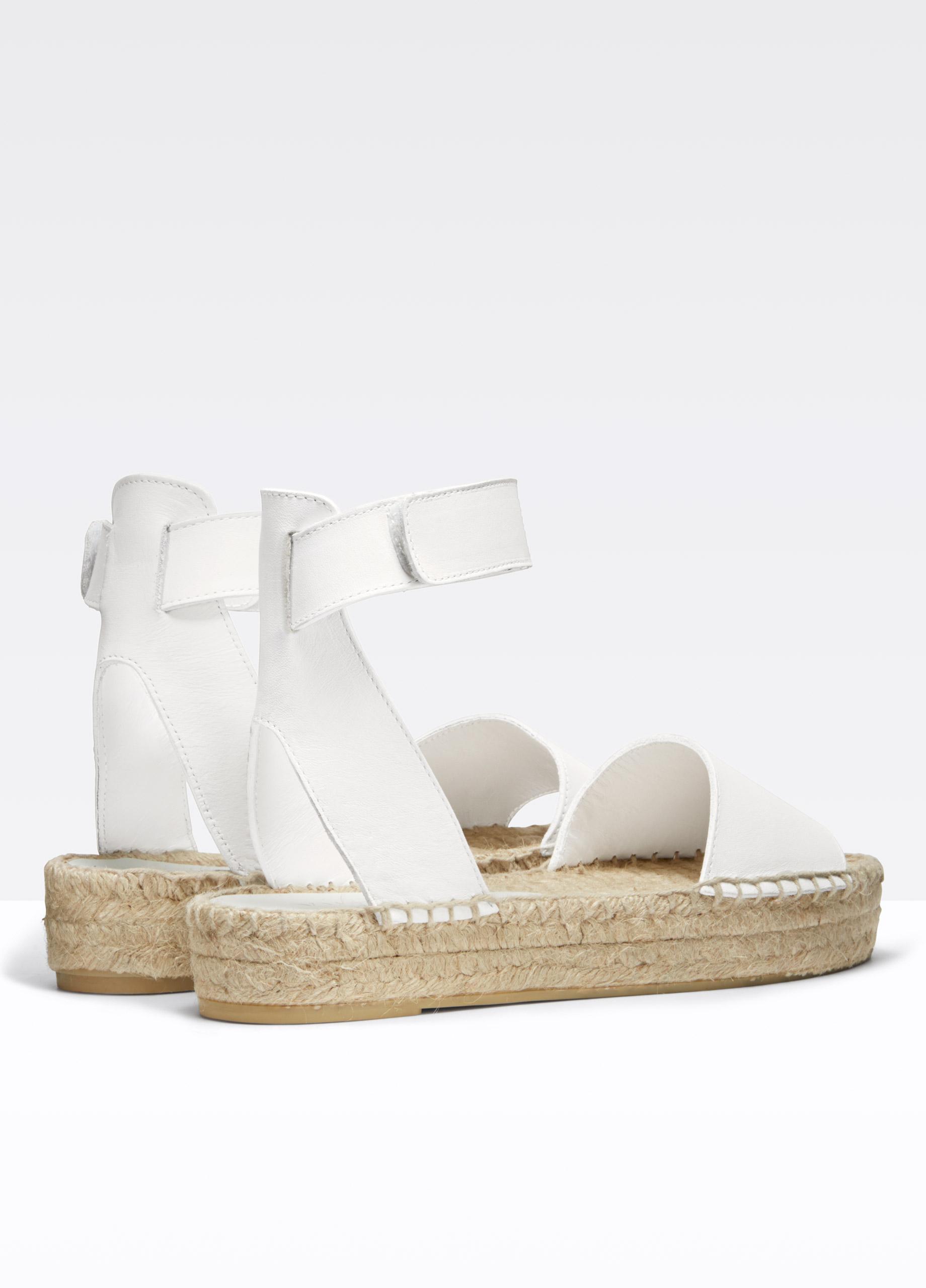 Vince Edie Leather Espadrille Platform In White Lyst