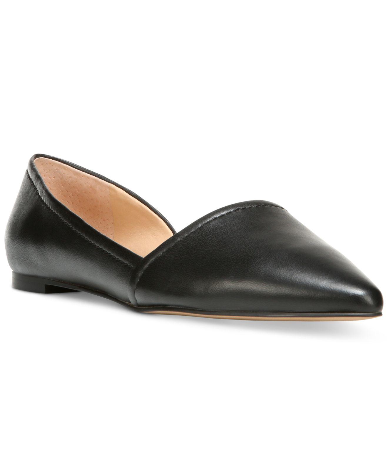Franco sarto Spiral Pointed-toe Flats in Black