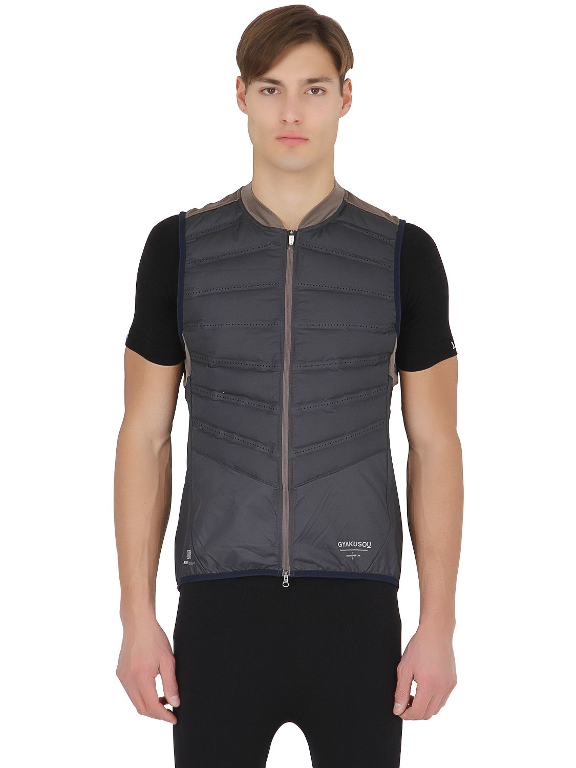 0bc2816562fb8 ... nike air max taille 40 - Nike Aeroloft Running Vest Jacket in Gray |  Lyst ...