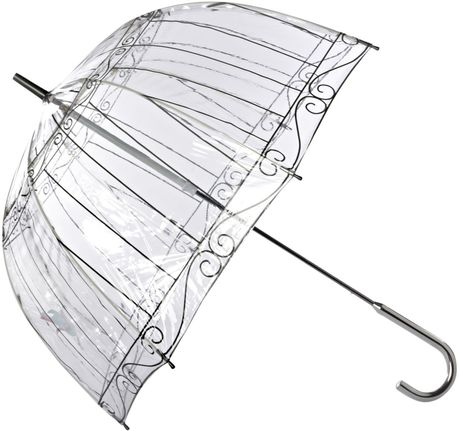 Lulu Guinness Birdcage Birdcage Umbrella in Beige (clear)