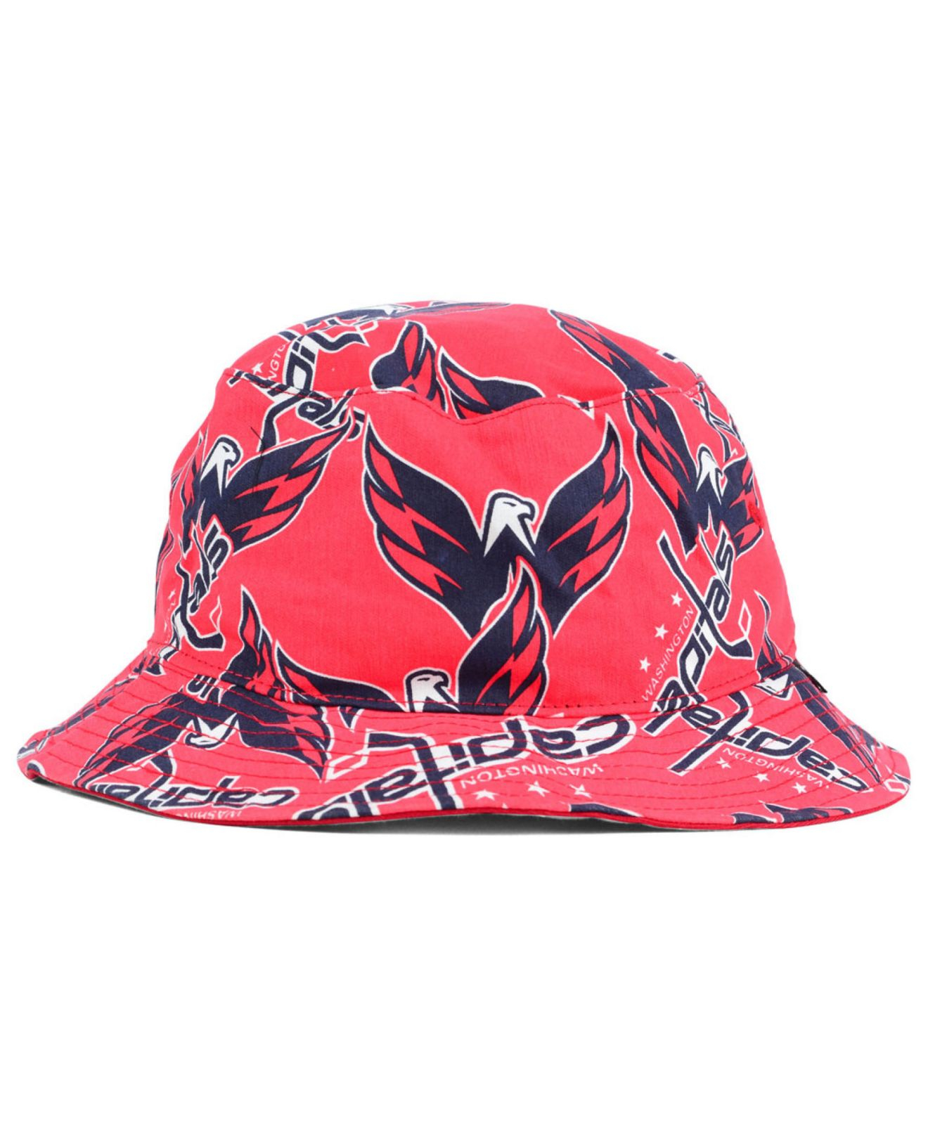 496104d4df4 uk lyst 47 brand washington capitals bucket hat in pink 1424e 2ed4e