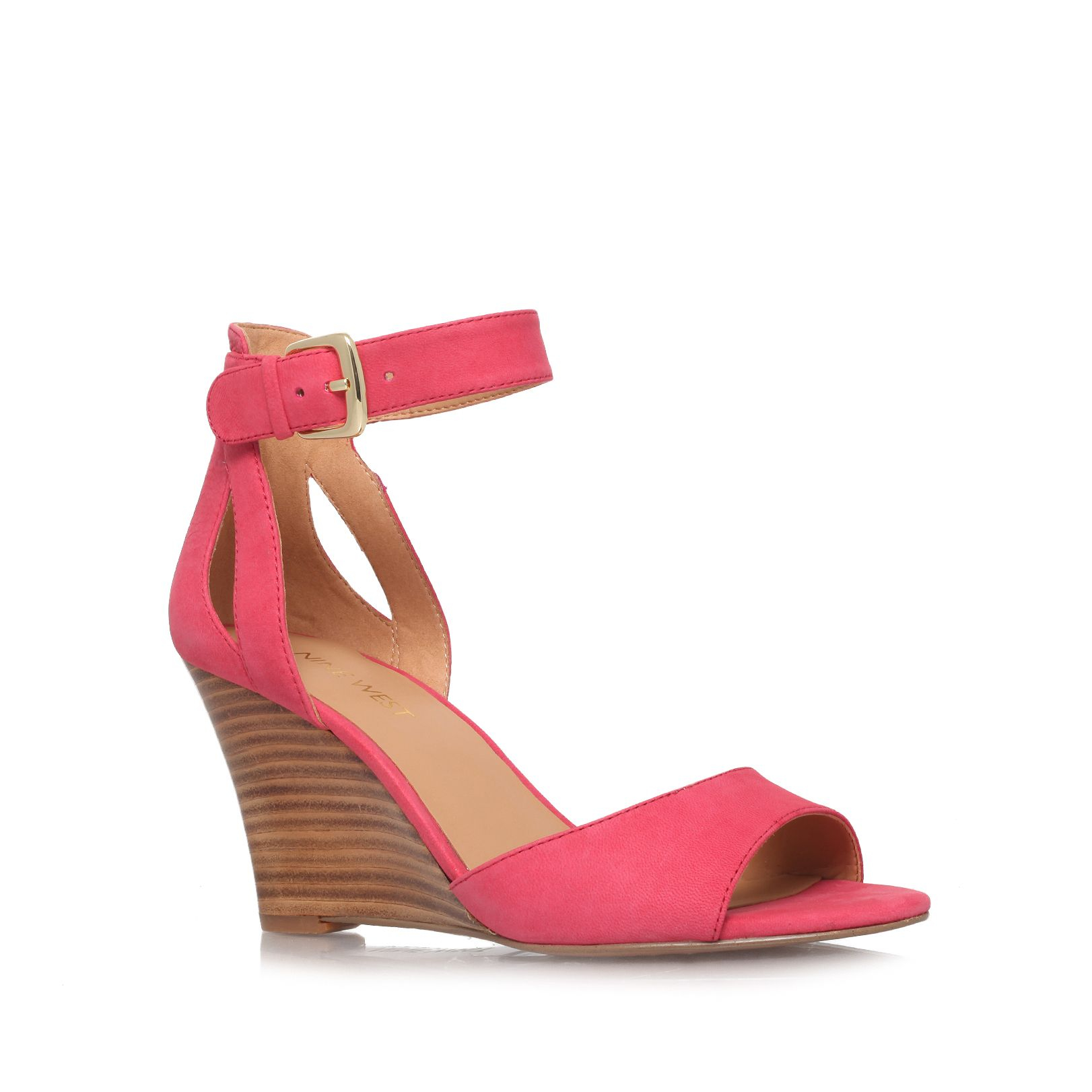 cheap big sale buy online authentic Pink 'Samia' mid heel wedge sandals tumblr cheap price buy cheap visit with mastercard cheap price UTqhQf9N1