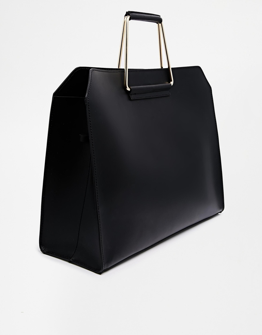 Women Leather Black Bag Handles For Mac