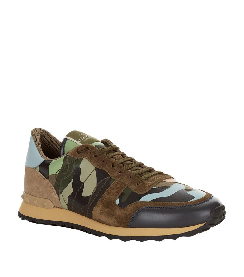 Valentino Camouflage Rockrunner Sneaker for Men
