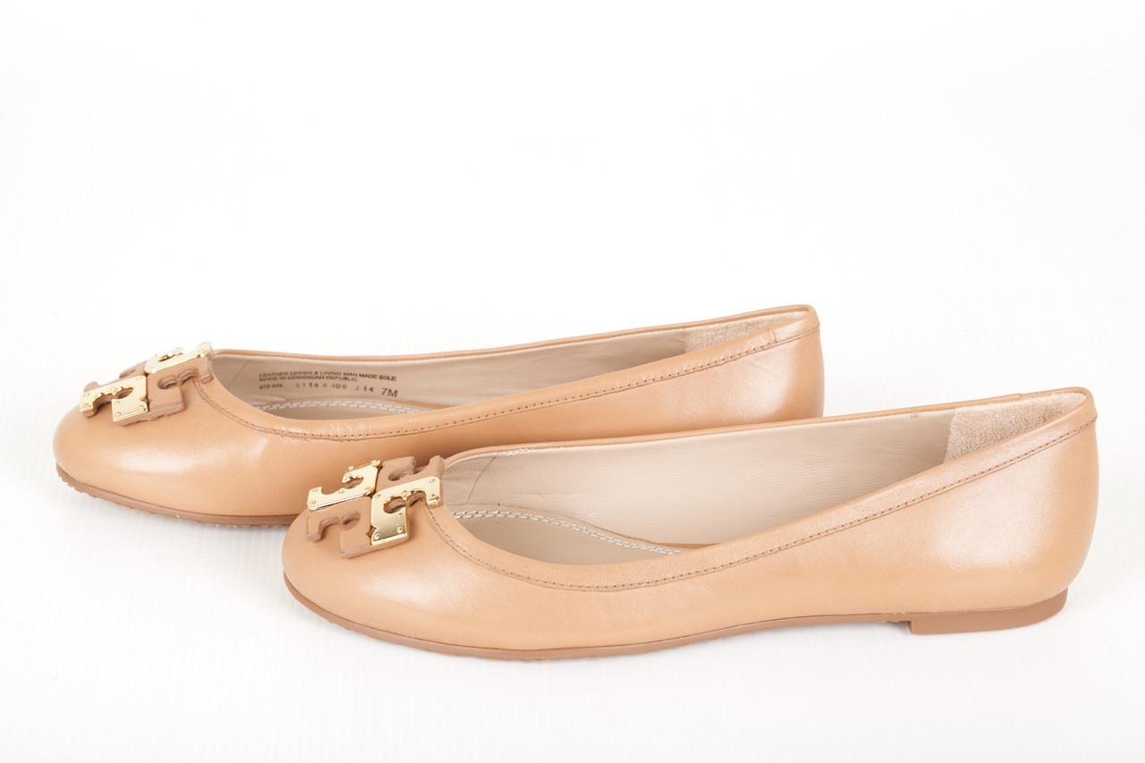 tory burch leather ballet shoes in beige natural blush. Black Bedroom Furniture Sets. Home Design Ideas