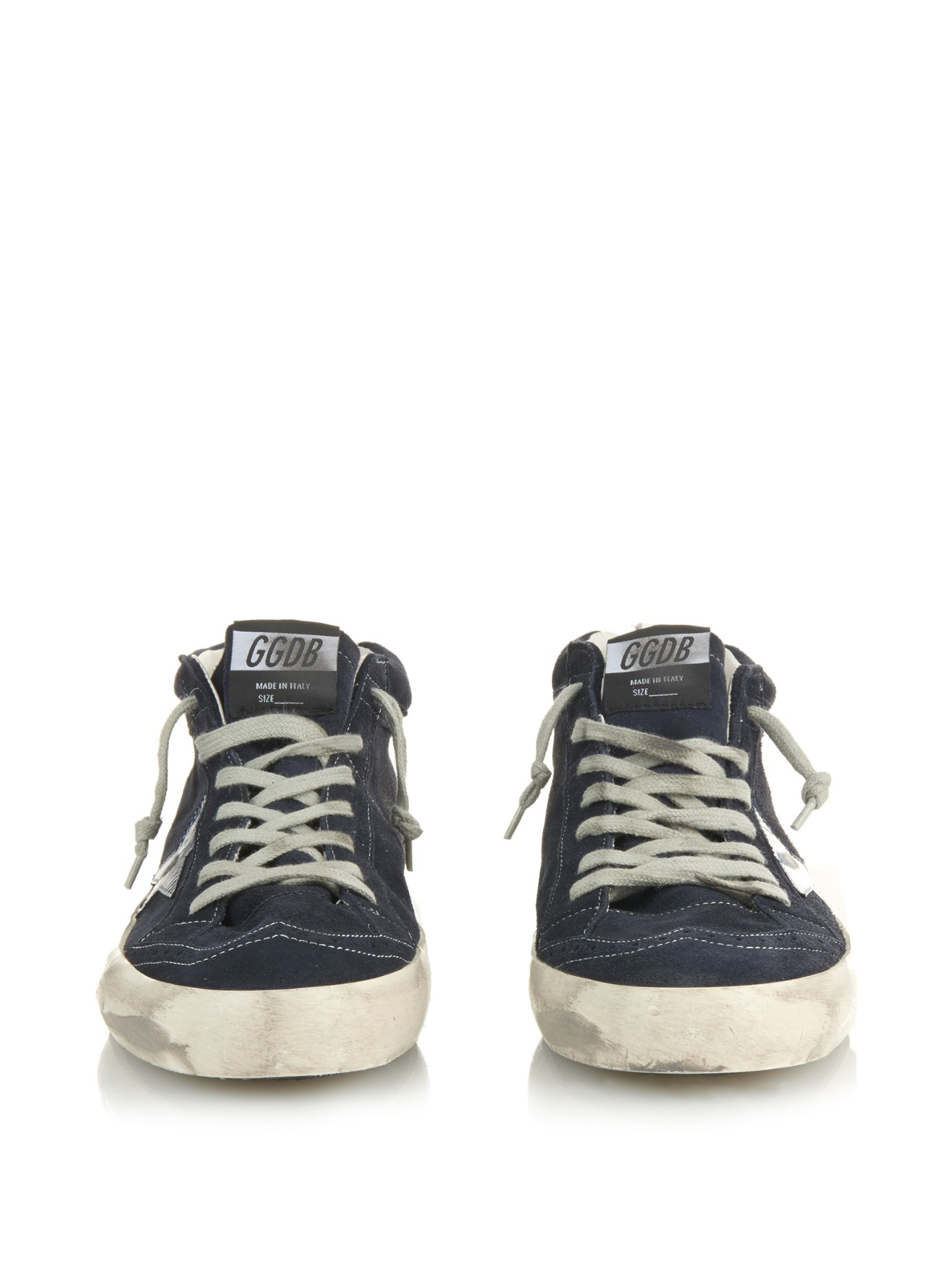 Lyst - Golden Goose Deluxe Brand Mid Star Suede Mid-Top Sneakers in Blue  for Men