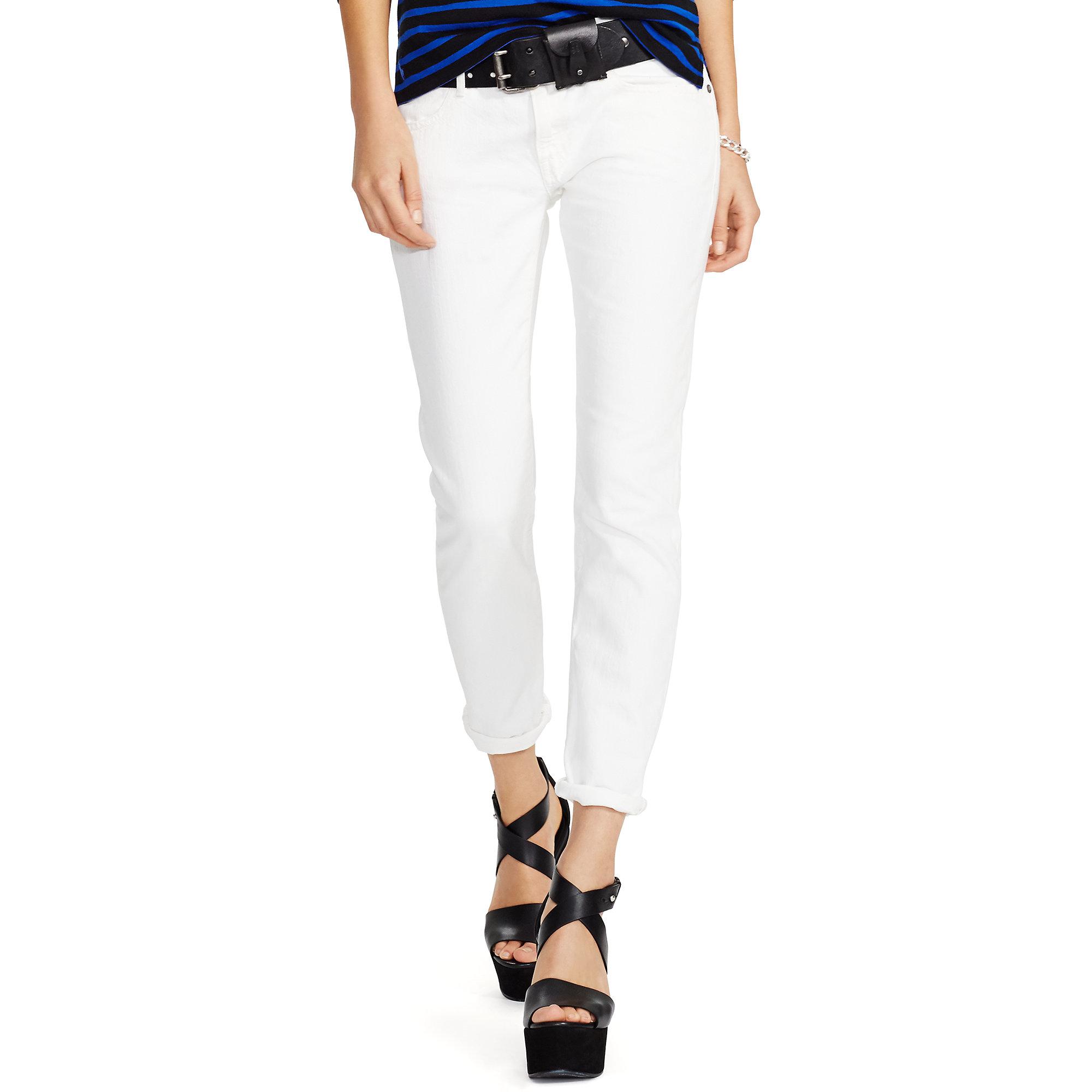 24ec804183979 Lyst - Polo Ralph Lauren Astor Slim Boyfriend Jean in White