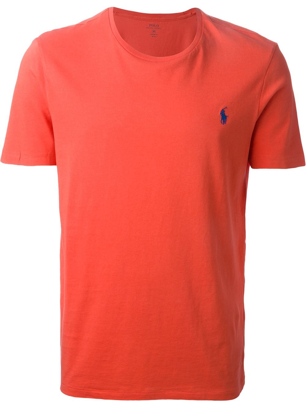 polo ralph lauren logo embroidered t shirt in red for men. Black Bedroom Furniture Sets. Home Design Ideas