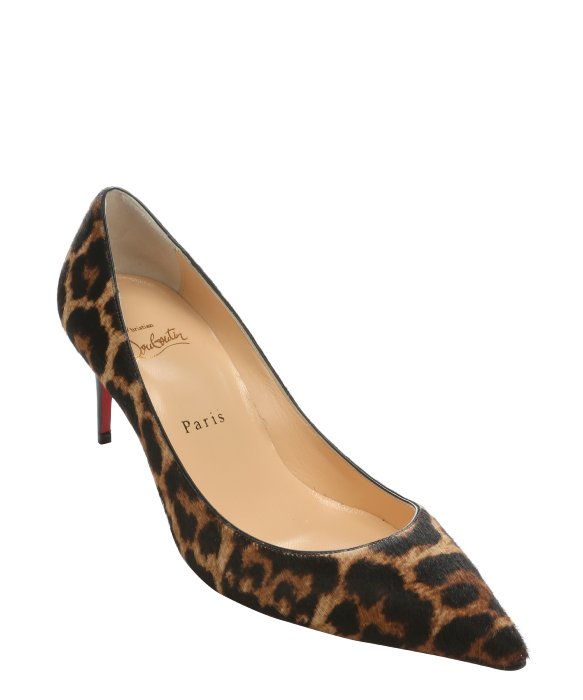 christian louboutin pointed-toe pumps Brown ponyhair | The Little ...