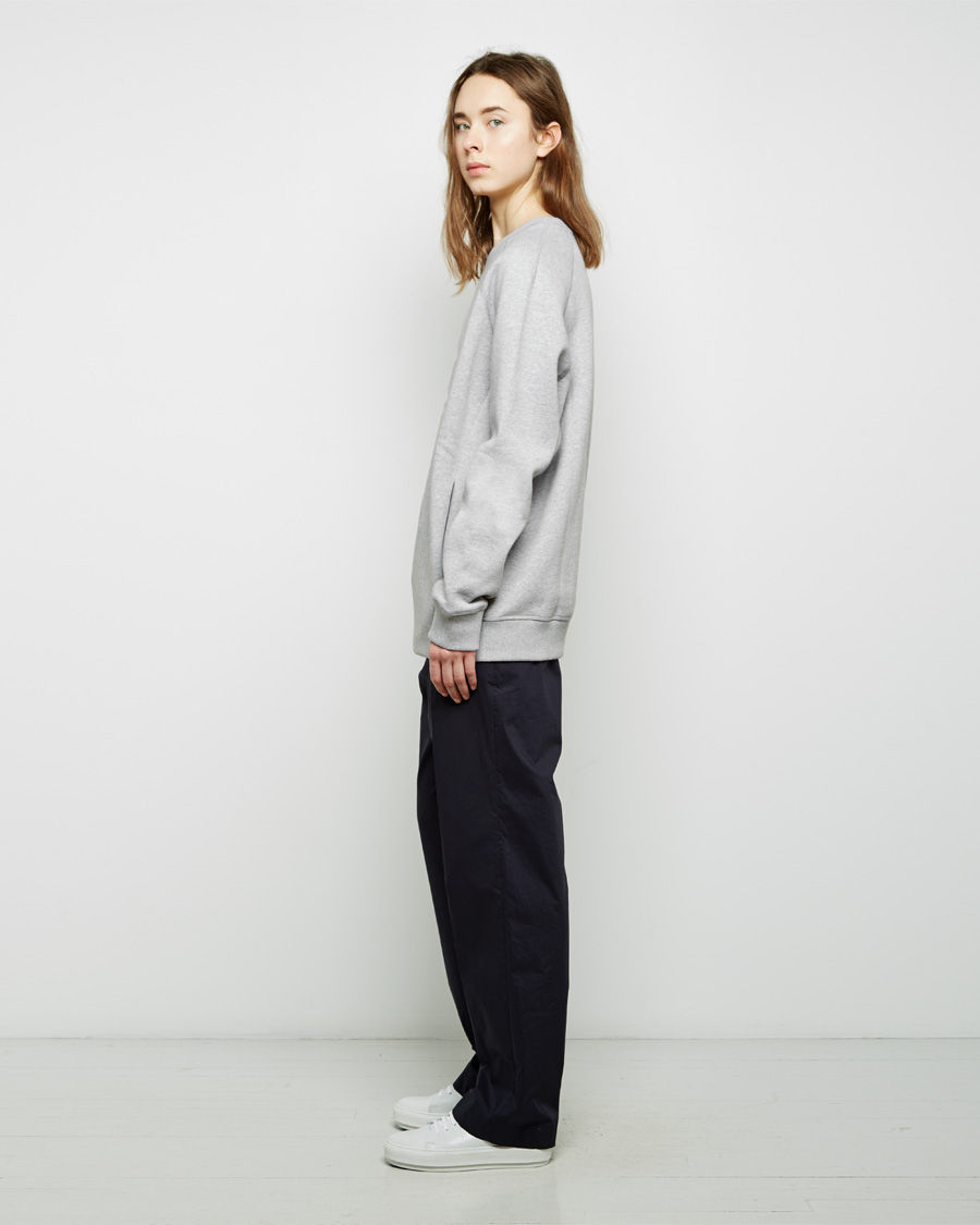 Acne studios Nikoleta Oversized Fleece Pullover in Gray | Lyst