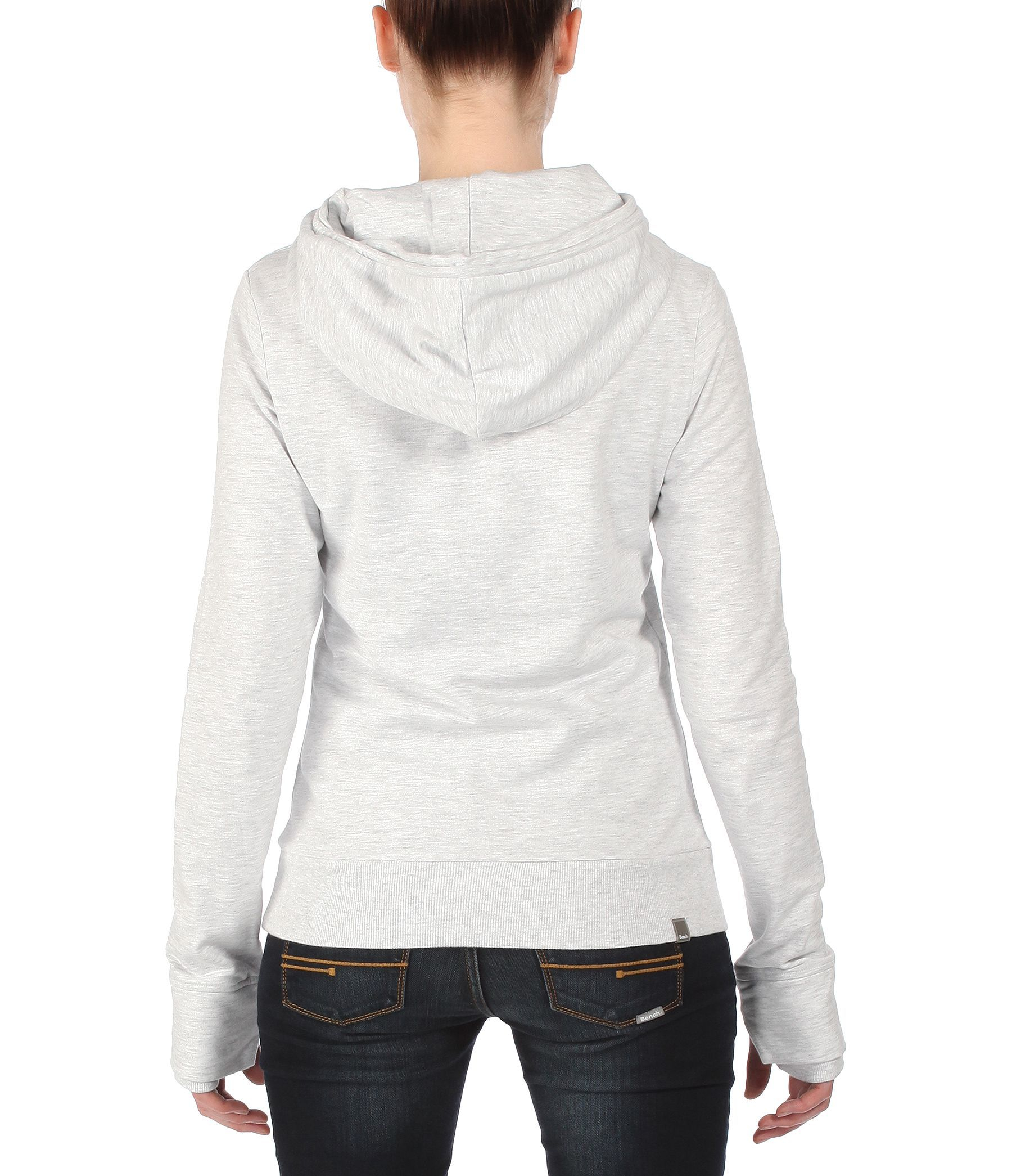 Bench Yoport Corp Logo Sweatshirt Hoodie In Gray Grey Lyst