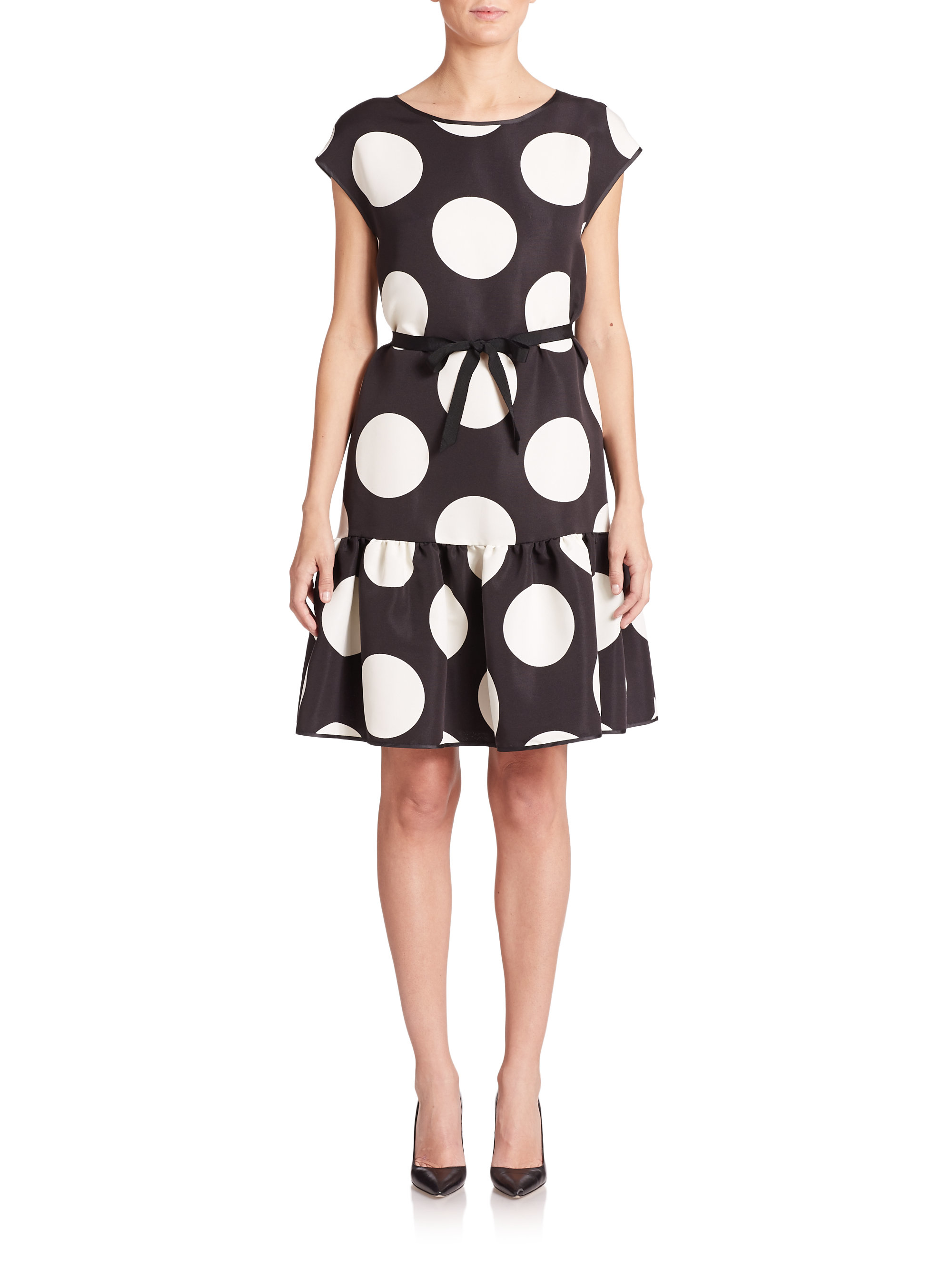 Boutique Moschino Woman Printed Crepe Mini Dress Black Size 46 Moschino Discount Order Cheap Lowest Price Best For Sale Outlet Genuine Sale Original vOuYZ4QG