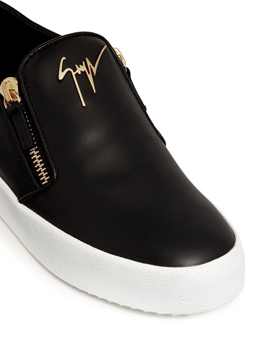 af410c7a97fa9 Giuseppe Zanotti May London Leather Low-Top Sneakers in Black - Lyst