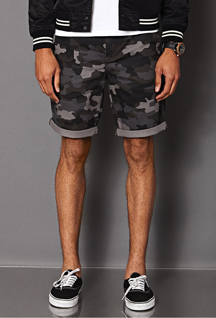 Forever 21 Camo Shorts in Black for Men | Lyst