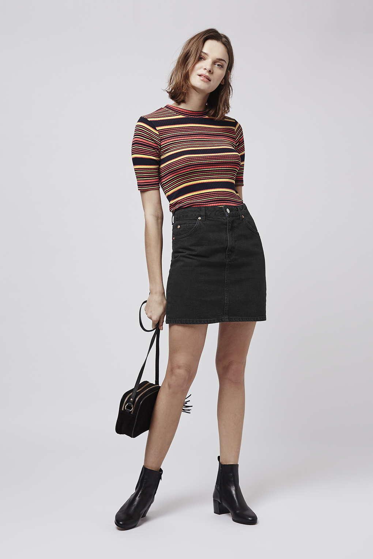 a3d339bbb4 Topshop High Waisted Denim Skirt