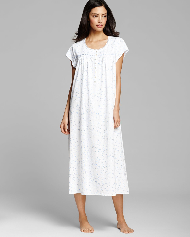 Eileen West Pima Cotton Light Jersey Long Ballet Gown in White - Lyst 2d2cb6365