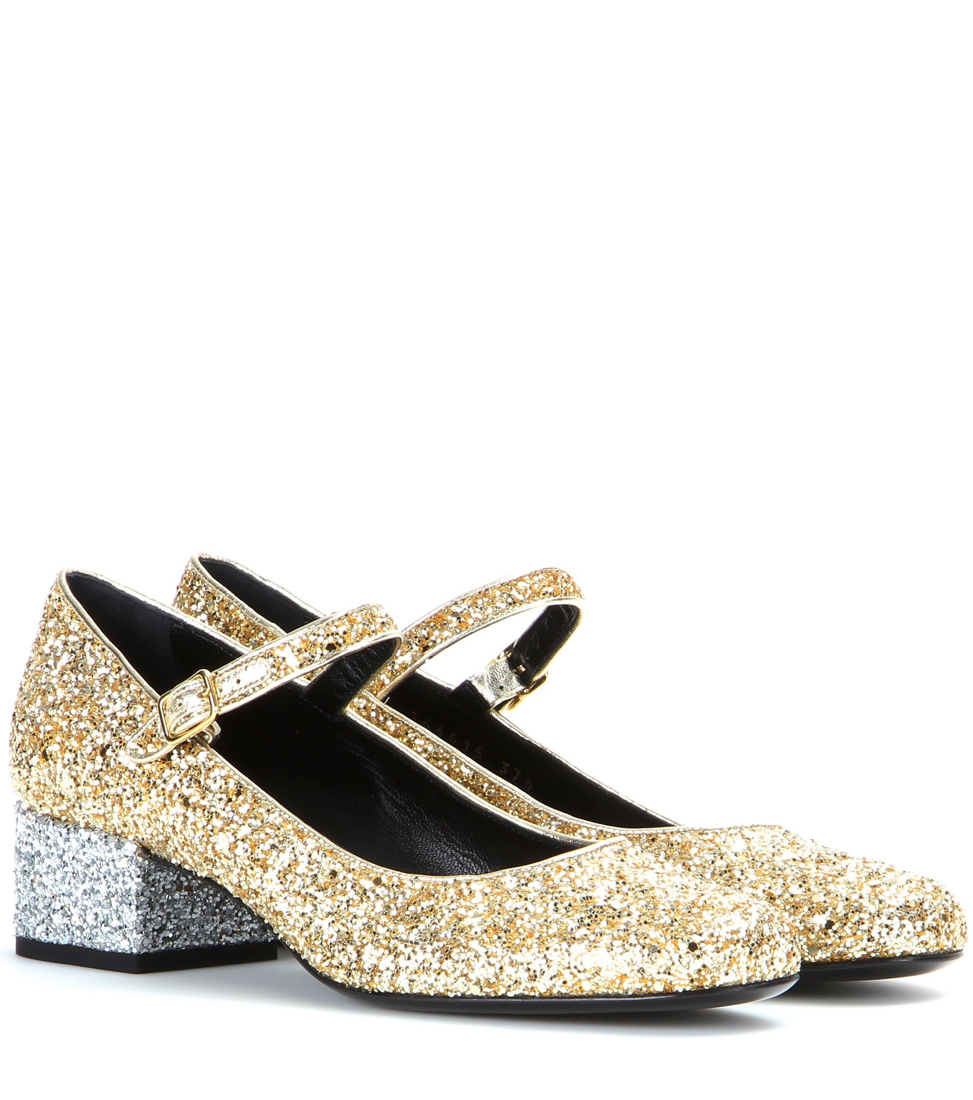 Clearance Enjoy Real For Sale Saint Laurent Glitter Ballet Flats Low Shipping Fee For Sale Fjtzp5W